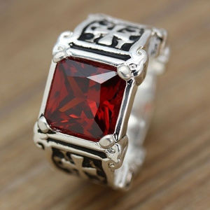 Other - Men Natural 3.7 Ct. Ruby Cross Rings